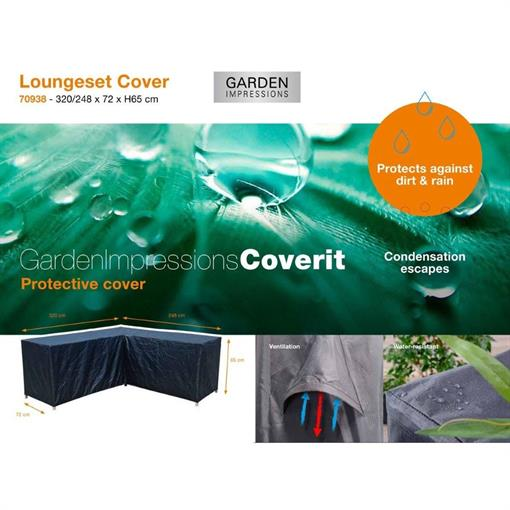 COVERIT loungeset L cover - 320/348x75xH65 2020