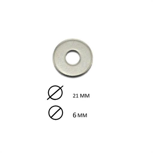 DIVERSEN RVS RING M6X21MM -