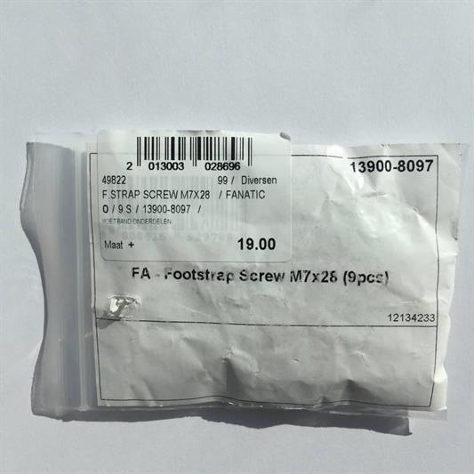 FANATIC Footstrap Screw M7x28 per 9 2021