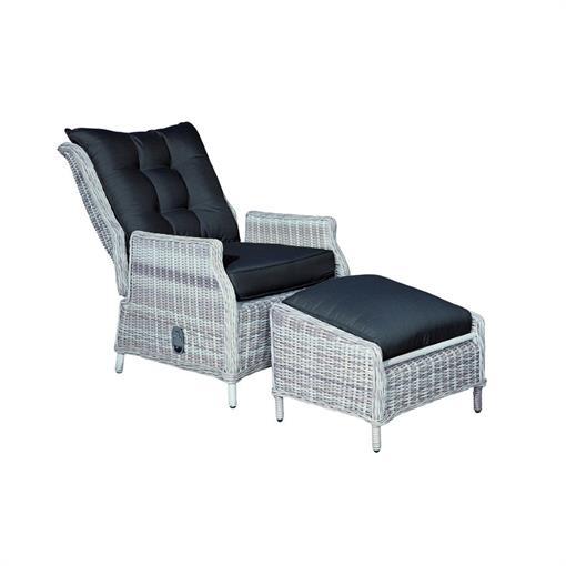 GARDEN IMPRESSIONS Veracruz relaxstoel+voetenbank 2019