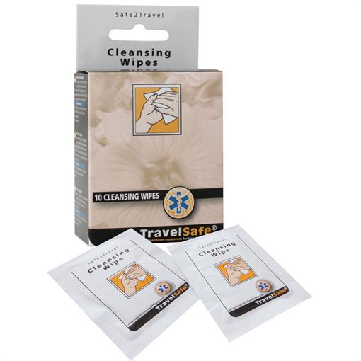 TRAVELSAFE Cleansing Wipes (10 st.) 2017