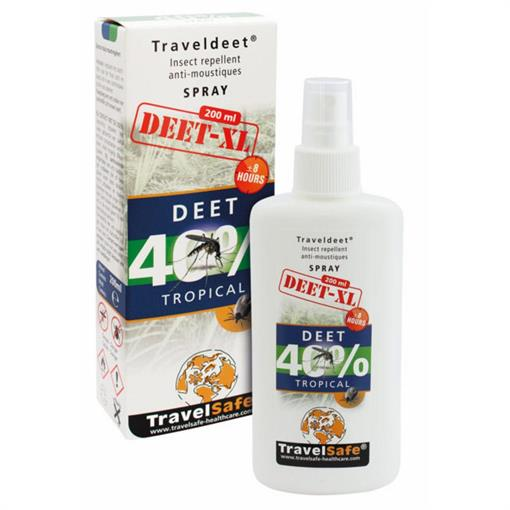 TRAVELSAFE TravelDEET 40% XL (spray) 200 ml. 2019